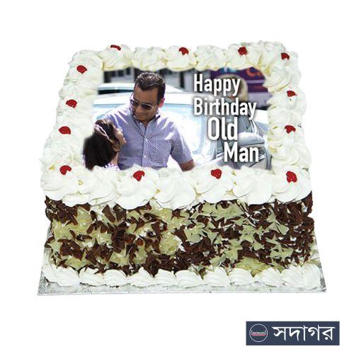 Happy Birthday Square Cake Theme 09