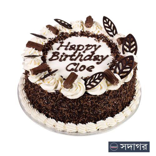 Happy Birthday Round Cake Theme 001
