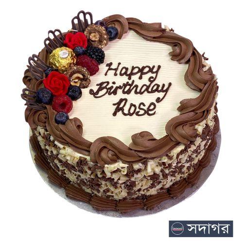 Happy Birthday Round Cake Theme 016
