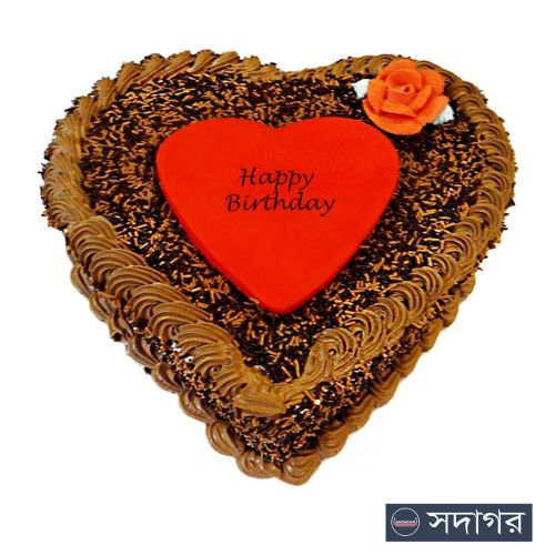 Happy Birthday Heart Cake Theme 02