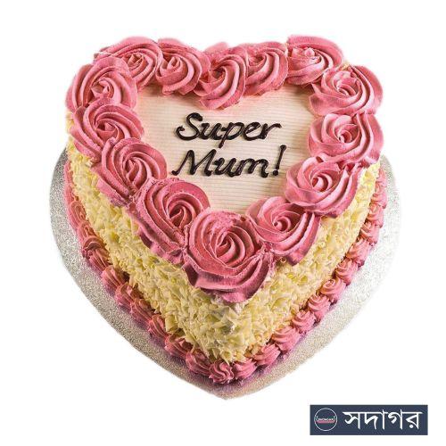 Happy Birthday Heart Cake Theme 03