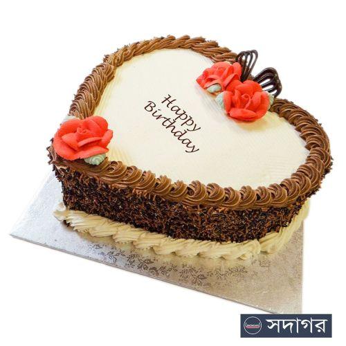 Happy Birthday Heart Cake Theme 04