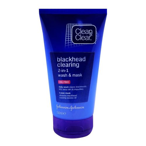 Clean & Clear Blackhead Clearing 2in1 Wash and Mask 150ml