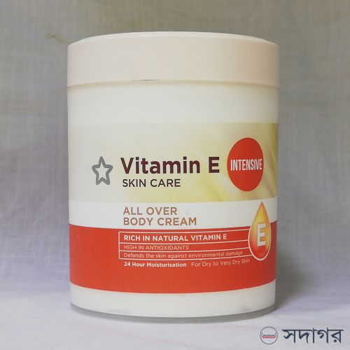 Superdrug Vitamin E Intensive All Over Body Cream 475ml