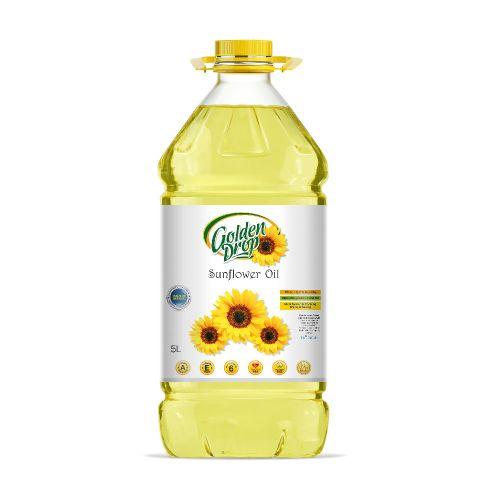 Golden Drop Sunflower Oil-5 Ltr