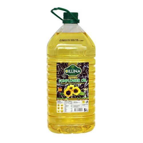 Oillina Blended High Oliec Sunflower Oil-5 Ltr