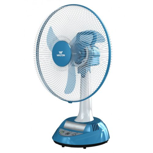 Walton Rechargeable Fan W17OA-MS (Stand-White, Base-Blue)