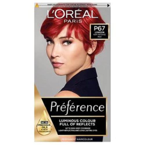 Loreal Preference Infinia P67 Scarlett Power Intense Red Hair Dye 204ml