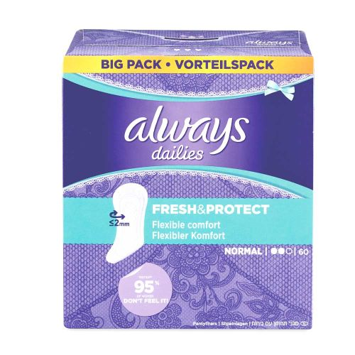 Always Dailies Fresh & Protect Panty Liners Normal x 60