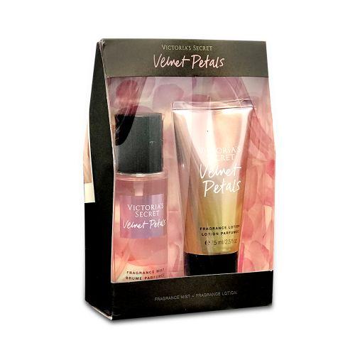 Victoria's Secret VELVET PETALS Travel Fragrance Mist & Lotion Gift Set