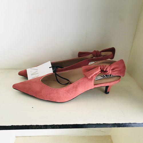 Original Zara Medium High Kitten Heel Shoe