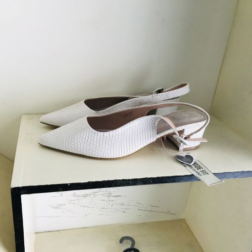 Primark Wide Fit Extra Comfort Heel White Shoes