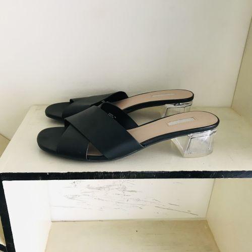 Primark Wide Fit Extra Comfort Heel Black Shoes