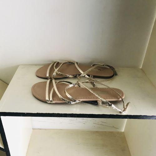 Primark Wide Fit Extra Comfort Gold Sandals