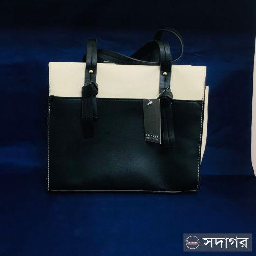 Matalan Papaya black and off white Crossbody Hand Bag with Shoulder Strap