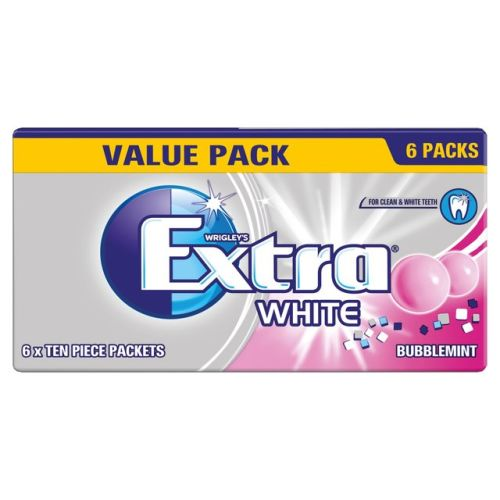 Extra White Bubblemint Chewing Gum Sugar Free Multipack