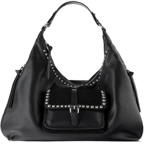 Zara Woman, Genuine 100% ROCK 'N ROLL BUCKET BLACK BAG