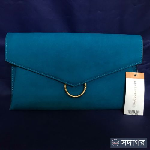 Dorothy Perkins teal clutch bag with Chain Strap