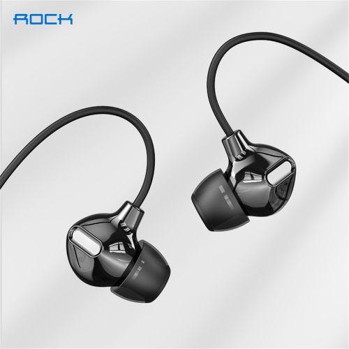 Rock Space Obsidian Stereo Earphones - Black