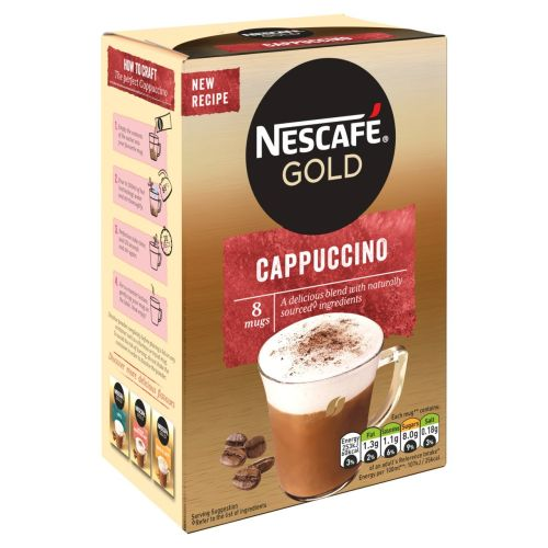 Nescafe Gold Cappuccino Coffee Instant coffee 8 Sachets 124g