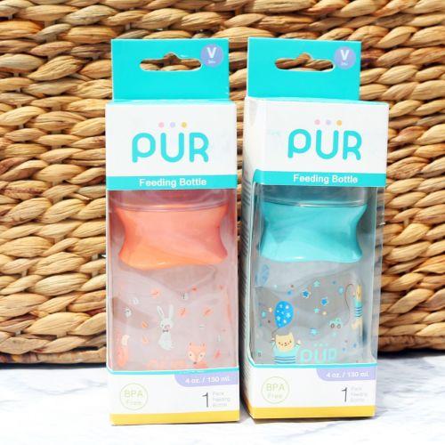 Pur Feeding Bottle Pink / Blue 130ml (1101)