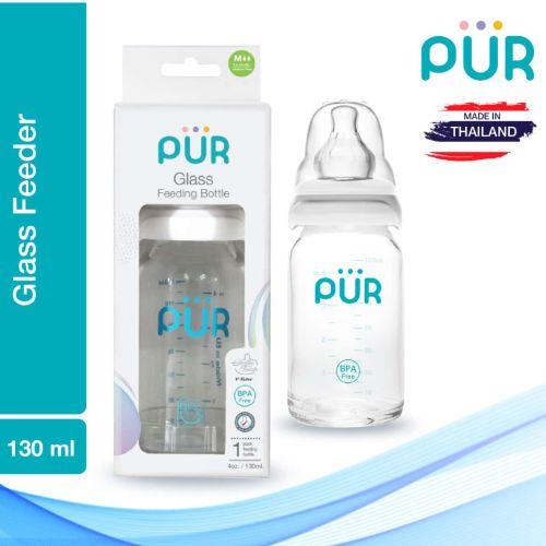 Pur Glass Feeding Bottle – 4oz./130ml (1202)