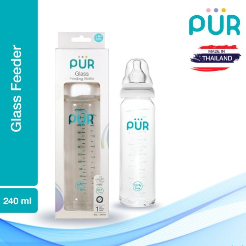 Pur Glass Feeding Bottle – 240ml (1203)
