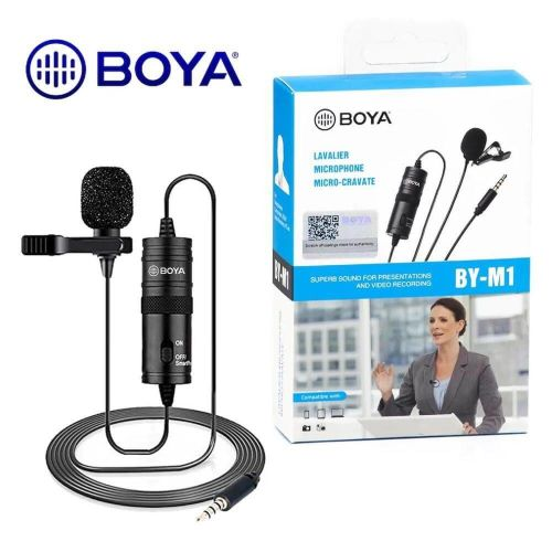 Boya Original BY-M1 Microphone Clip Mic For Smartphone DSLR PC