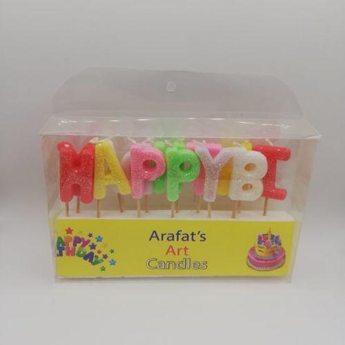 Glitter Happy Birthday Candles