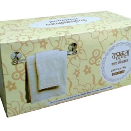 Bashundhara Hand Towel Tissue 250 Pcs 1 Ply
