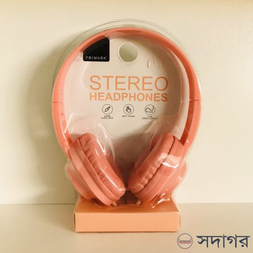 Primark Coral One Size Soft Touch Headphones