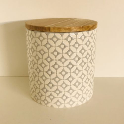 Embossed Geometric Storage Canisters
