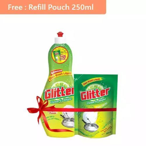 Glitter Dishwashing Liquid 500ml (250ml Refil Pack Free)