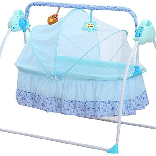 Remote Control baby swing bed.