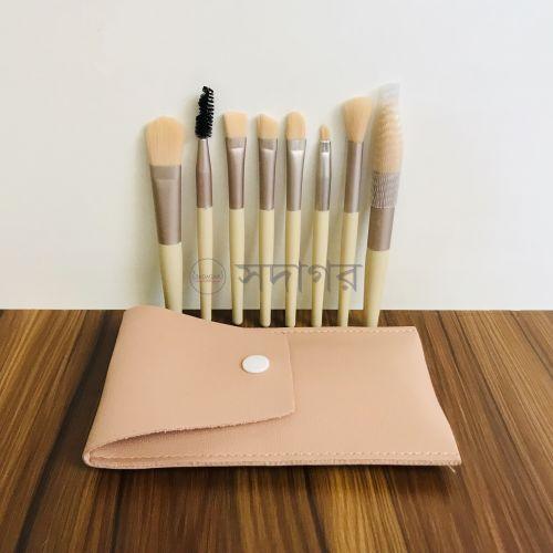 Mini Portable Soft Makeup Brushes Pink Set 8 Pcs