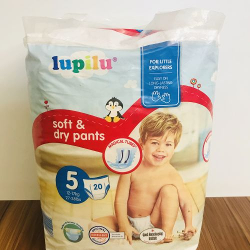 Lupilu Soft And Dry Quick Pants Size 5 (20 Counts)
