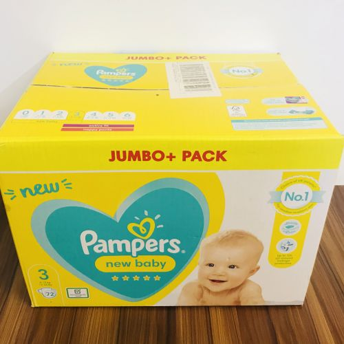 Pampers New Baby Size 3 Jumbo Nappies - Pack Of 72