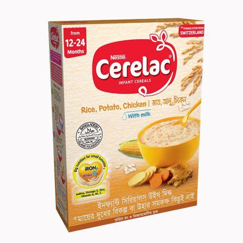 Nestle Cerelac Rice , Potato , Chicken With Milk Infant Cereals 400g