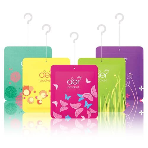 Godrej Aer Power Pocket + Germ Protection ( Berry Rush, Fresh Blossom, Bright Tangy Delight, Levender Bloom & Morning Misty Meadows )
