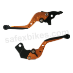 Buy MOXI ADJUSTABLE LEVER SET FOR MOTORCYCLE (ORANGE) on 5.00 % discount