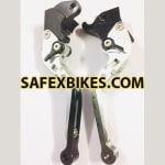 Buy MOXI ADJUSTABLE LEVER SET FOR MOTORCYCLE (WHITE) on 5.00 % discount