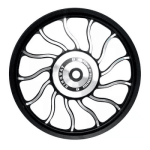 Buy ALLOY WHEEL SET FOR RE ELECTRA WAVEDESIGN IN BLACK SPOKES 13 SPOKES HARLEY TYPE KINGWAY on  % discount