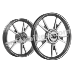 Buy ALLOY WHEEL SET FOR RE CLASSIC BLACK 10SPOKES HARLEY KINGWAY on  % discount