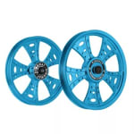 Buy ALLOY WHEEL SET FOR RE STANDARD FATBOY HARLEY BLUE CHROME KINGWAY on  % discount