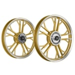 Buy ALLOY WHEEL SET FOR RE STANDARD GOLD CNC YMODEL HARLEY KINGWAY on  % discount