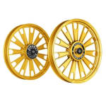 Buy ALLOY WHEEL SET FOR RE STANDARD GOLD CHROME ZIPP HARLEY KINGWAY on  % discount