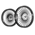 Buy ALLOY WHEEL SET FOR RE THUNDERBIRD BLACK 30SPOKES HARLEY KINGWAY on  % discount