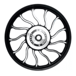 Buy ALLOY WHEEL (FRONT) FOR RE CLASSIC WAVEDESIGN IN BLACK SPOKES 13 SPOKES HARLEY TYPE KINGWAY on  % discount