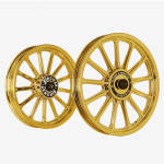 Buy ALLOY WHEEL SET FOR RE STANDARD GOLD CHROME 13SPOKES HARLEY KINGWAY on  % discount