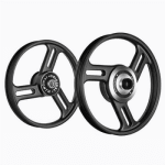 Buy ALLOY WHEEL SET FOR RE STANDARD COMPLETE BLACK 3SPOKES STRAIGHT KINGWAY on 5.00 % discount